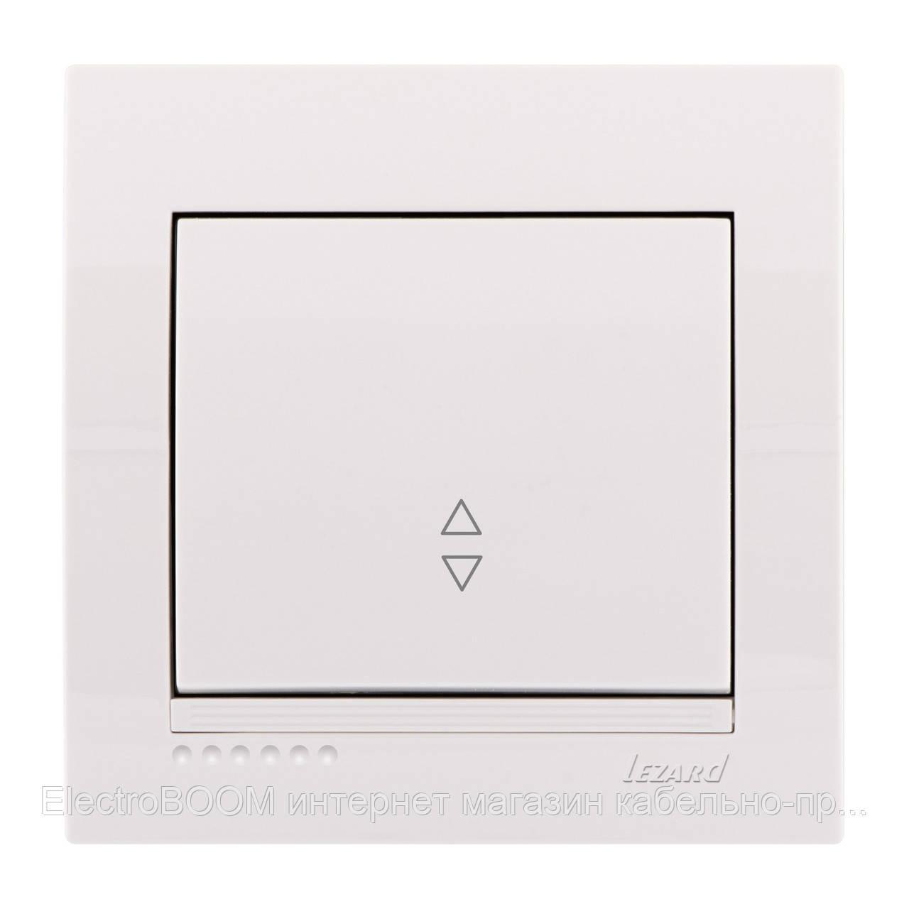 Переключатель 1-клавишный белый (выключатель проходной) Deriy Lezard