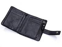 Кожаное мужское портмоне CasOne, мужской кошелек из натуральной кожи