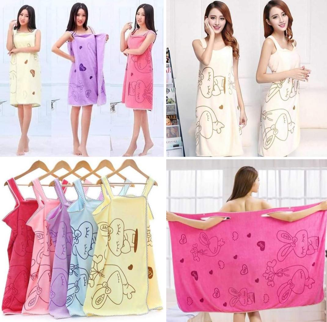 Женское полотенце- халат из микрофибры