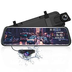 """Зеркало-видеорегистратор 10"""" DVR L900 full hd с выносной камерой заднего вида+ПОДАРОК!"""