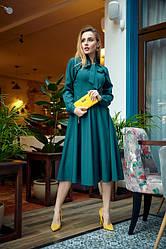 Сукня міді 1222.3 колір зелений