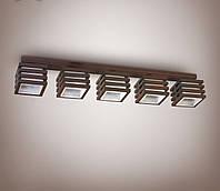 Люстра 5 ламповая, деревянная для небольшой комнаты, кухни, прихожей