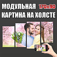 Модульная Картина на холсте из Вашего фото