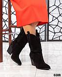 Модные сапоги казаки демисезонные, фото 4