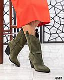 Модные сапоги казаки демисезонные, фото 6