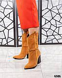 Модные сапоги казаки демисезонные, фото 8