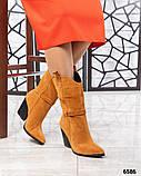 Модные сапоги казаки демисезонные, фото 9