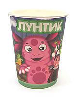 Стакан праздничный  Лунтик и друзья с надписью Лунтик