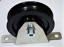Ролик для троса 80 мм с большим кронштейном
