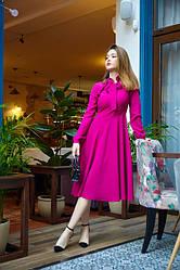 Сукня міді 1222.1 колір малиновий