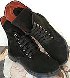 Pepe! Женские замшевые кожаные полу ботинки на низком ходу со змейкой и шнуровкой очень удобные, фото 9