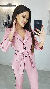 Женский брючный костюм Фрезовый