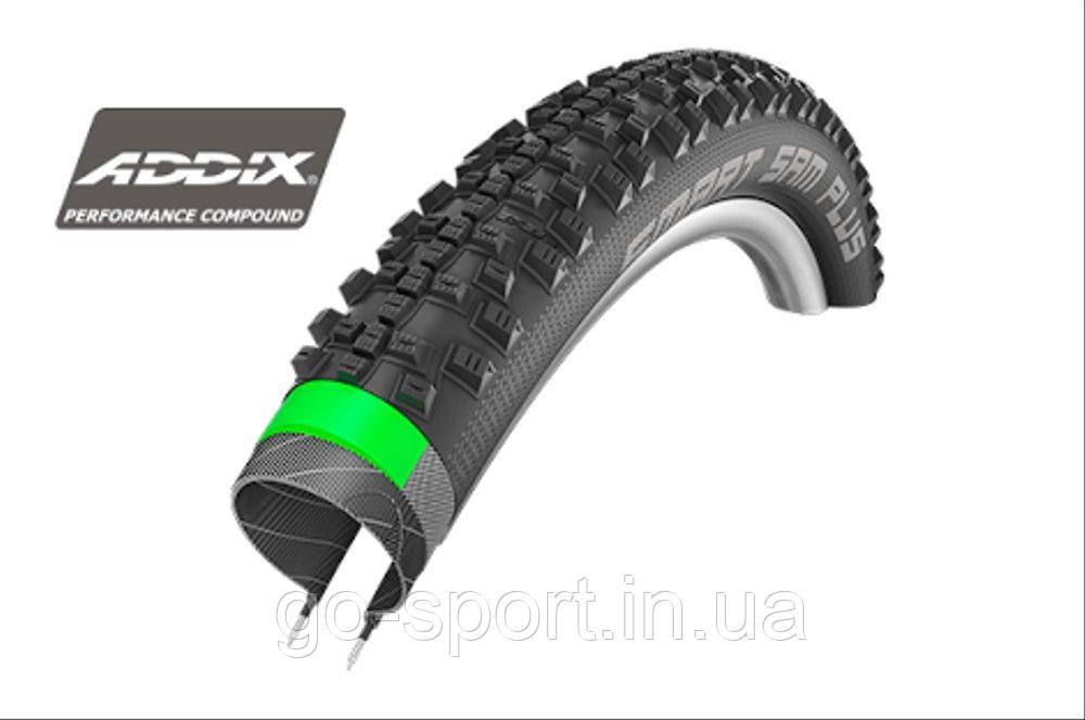 Покрышка Schwalbe Smart Sam Plus Performance ADDIX GreenGuard SnakeSkin 26x2,1