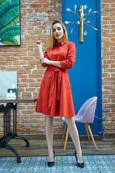 Сукня - сорочка 1221.1 колір цегляний
