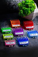 Набор полупрозрачных разноцветных премиум насадок до машинок Wahl guard clear color mix