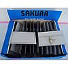 Бейдж пластиковый 25мкм (5,7х9,2см с зажимом и булавкой) Сакура A-plus уп50