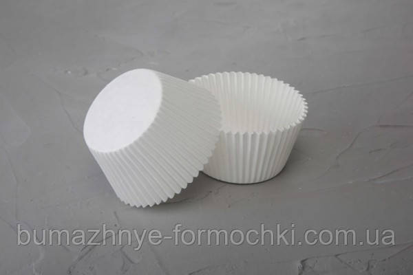 Белая формочка для выпекания кексов и маффинов, 55*42.5 мм