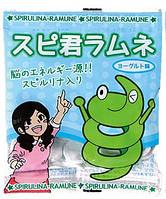 ALGAE Ramune Японские жевательные конфеты Рамуне со спирулиной, 1 пакетик (10 г)