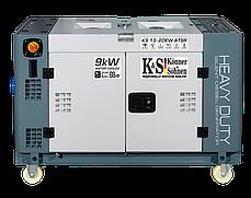 Генератор дизельний Könner&Söhnen KS 13-2DEW ATSR (9 кВт, 230 В), фото 3