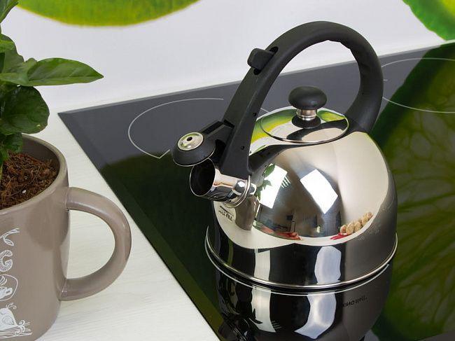 Чайник из нержавеющей стали со свистком 1.5 л Edenberg (EB-1971)