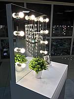 Визажный стол для визажиста, цвет белый, зеркало с подсветкой