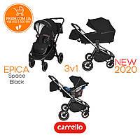 CARRELLO EPICA CRL-8511/1 универсальная коляска 3 в 1 Space Black Черный