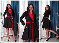 Стильное платье-халат свободного кроя Размер: 46-48, 50-52, 54-56, 58-60 арт 7156