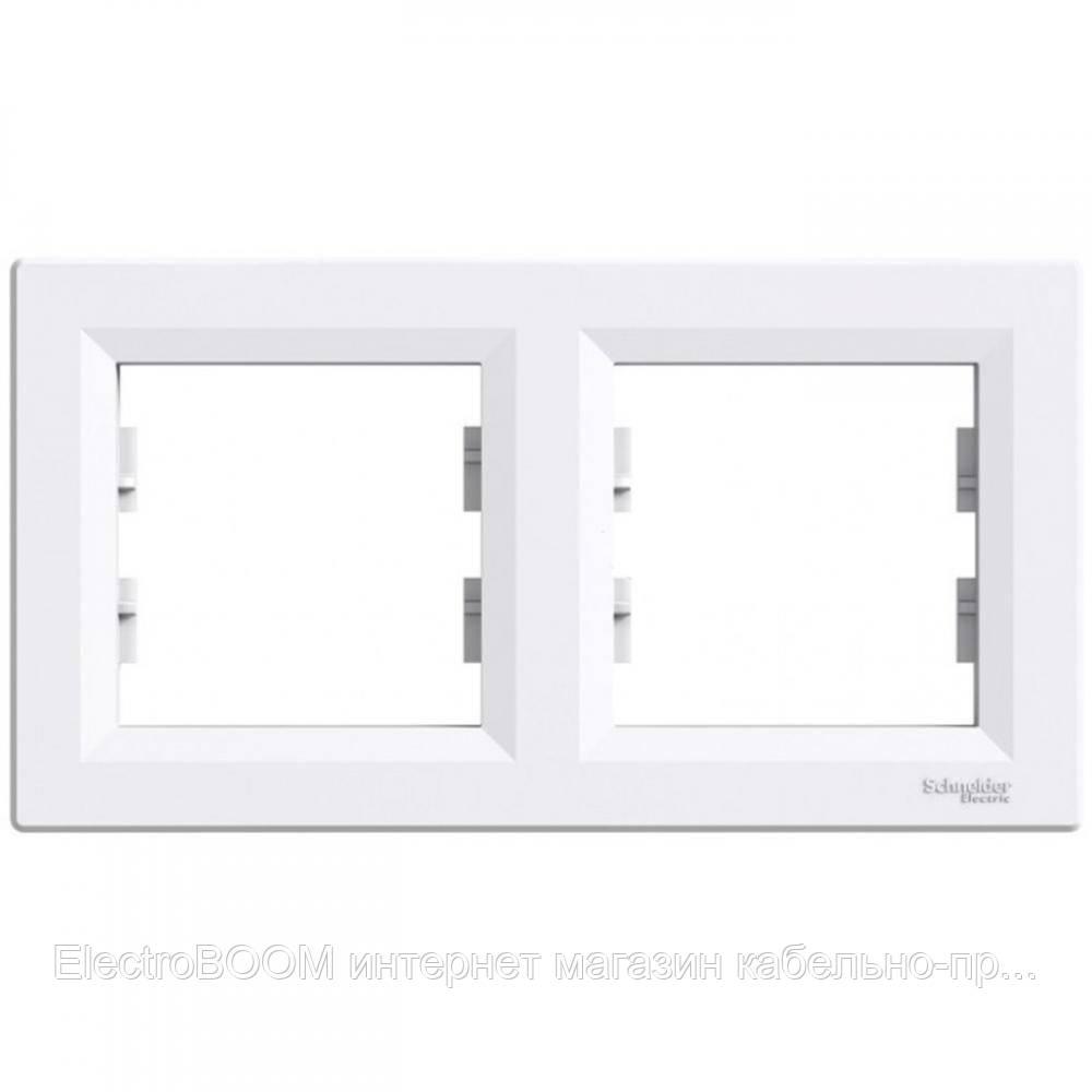 Двупостовая рамка Schneider Asfora Белый (EPH5800221)