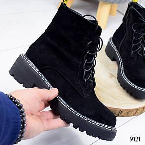 Ботинки женские Insane черные 9121 замша