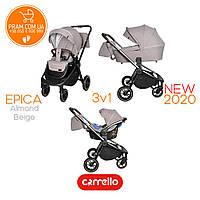 CARRELLO EPICA CRL-8511/1 универсальная коляска 3 в 1 Almond Beige Бежевый