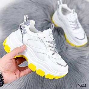 Кроссовки женские Neil белый+желтый 9233