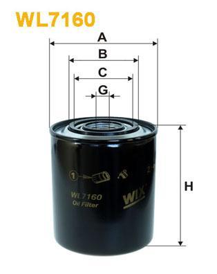 Фильтр масляный WIXFILTRON WL7160