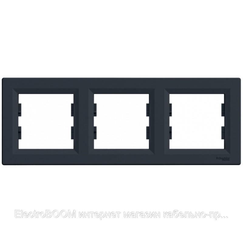 Трехпостовая рамка Schneider Asfora Антрацит (EPH5800371)