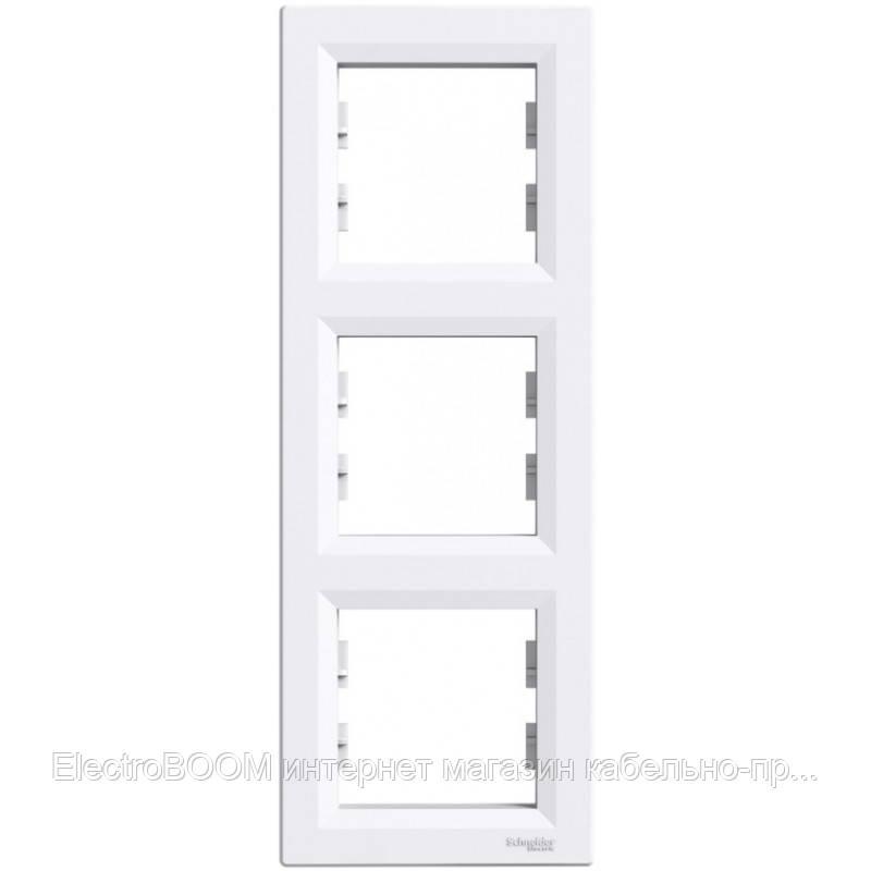 Трехпостовая рамка вертикальная Schneider Asfora Белый (EPH5810321)