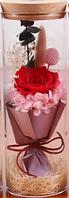 Роза в колбе с LED подсветкой БОЛЬШАЯ КРАСНАЯ №A52