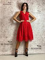 Женское платье из гипюра Poliit 8696, фото 1