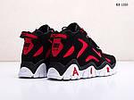 Мужские кроссовки Nike Air Barrage Mid (черно-красные) 1350, фото 5