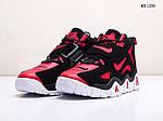 Мужские кроссовки Nike Air Barrage Mid (черно-красные) 1350, фото 2