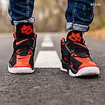 Мужские кроссовки Nike Air Barrage Mid (черно-красные) 1350, фото 7