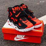 Мужские кроссовки Nike Air Barrage Mid (черно-красные) 1350, фото 6