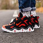 Мужские кроссовки Nike Air Barrage Mid (черно-красные) 1350, фото 8