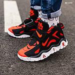 Мужские кроссовки Nike Air Barrage Mid (черно-красные) 1350, фото 9