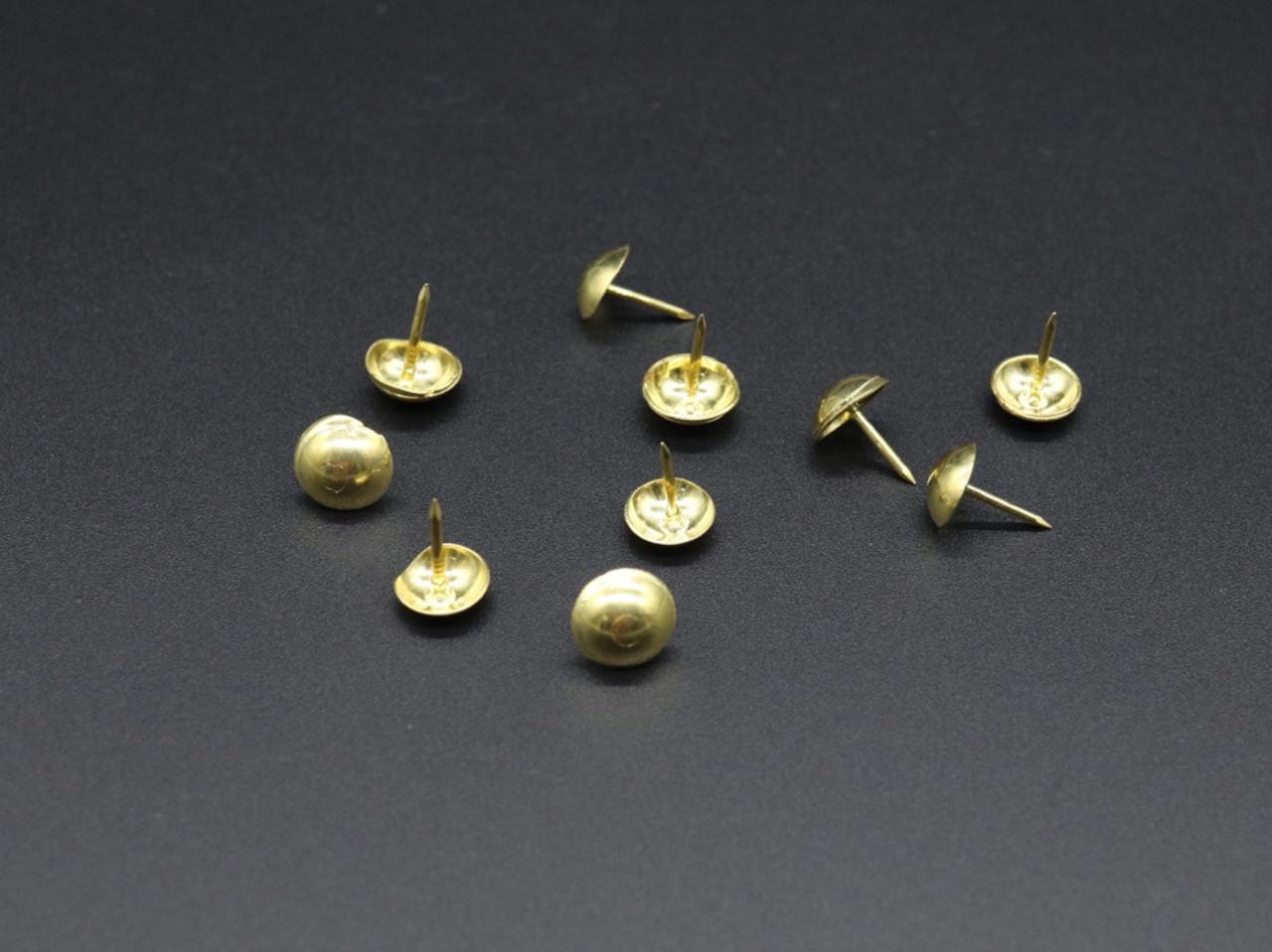 Меблеві цвяхи. Колір золото. Якість. 8,5х10,5мм