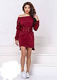Теплое платье на флисе с корсетом,размеры:42-44,46-48., фото 2