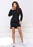Теплое платье на флисе с корсетом,размеры:42-44,46-48., фото 3