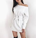 Теплое платье на флисе с корсетом,размеры:42-44,46-48., фото 4