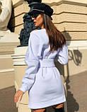 Теплое платье на флисе с корсетом,размеры:42-44,46-48., фото 7
