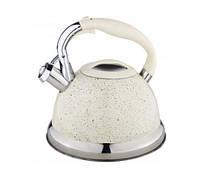Бежевый чайник Edenberg EB-1955 со свистком 3 л, фото 1