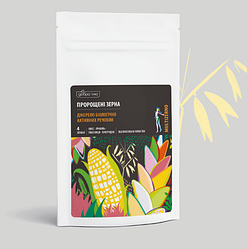 Проросшие зерна (пшеницы, овса, кукурузы, ячменя) в пакете, 150 г