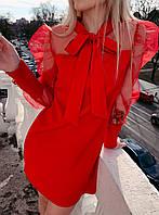 Нарядное коктейльное платье Красный